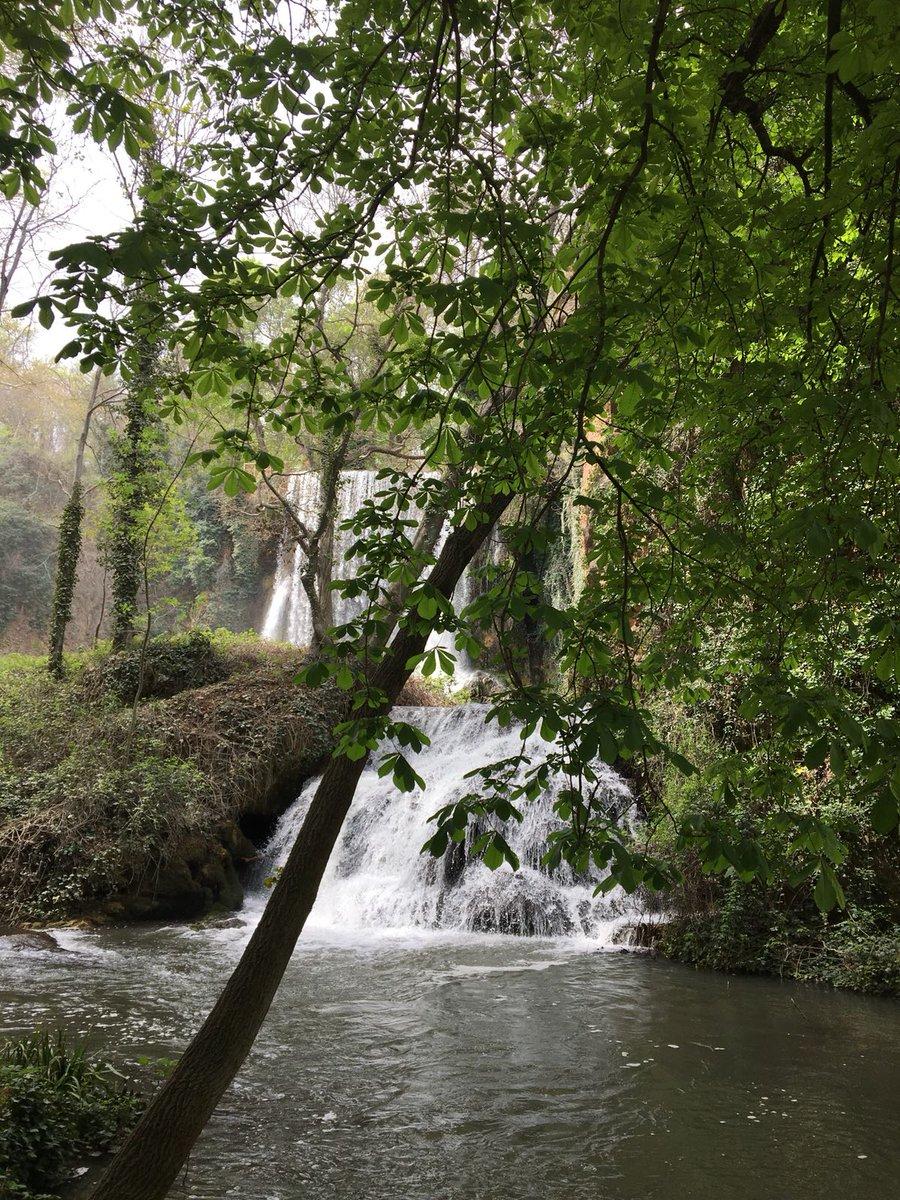 Cascadas y saltos de agua del río Piedra que da vida a la flora y fauna del Parque Natural del Monasterio de Piedra