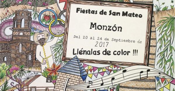 Cartel de las fiestas de Monzón 2017 Fiestas en honor al patrón San Mateo con mucha diversión que no te puedes perder