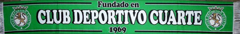 Cuarte de Huerva - Bufanda del Club Deportivo Cuarte