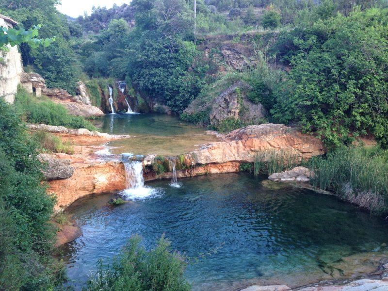 Bañarte en Aragón - Pozas de La Pesquera - Imagen de losandacaminosrubi.blogspot.com