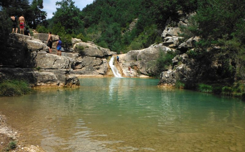 Bañarte en Aragón - Pozas de Pigalo - Imagen de www.excursionesporhuesca.es