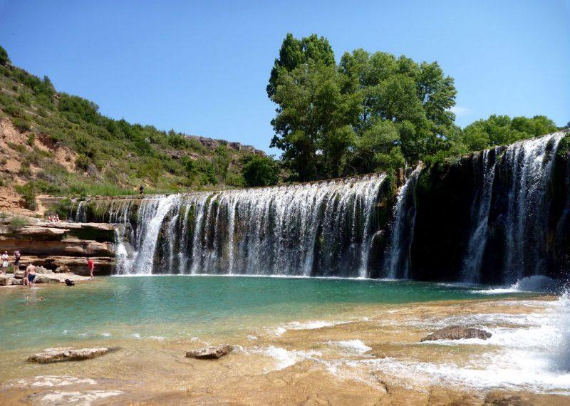 Bañarte en Aragón - Salto del río Alcanadre en Bierge - Imagen de escapadarural.com