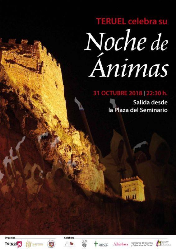 La noche de las Ánimas en Teruel - Cartel de la festividad que no te puedes perder