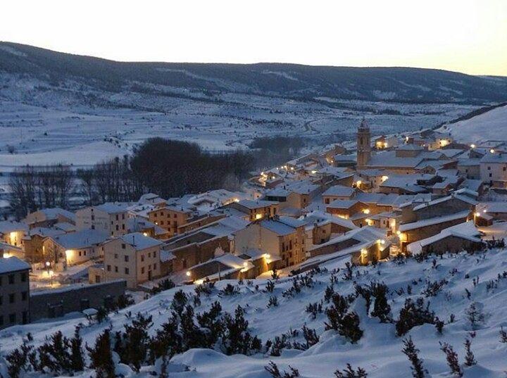 Preciosa foto invernal de fortanete en Teruel - tedytorrina