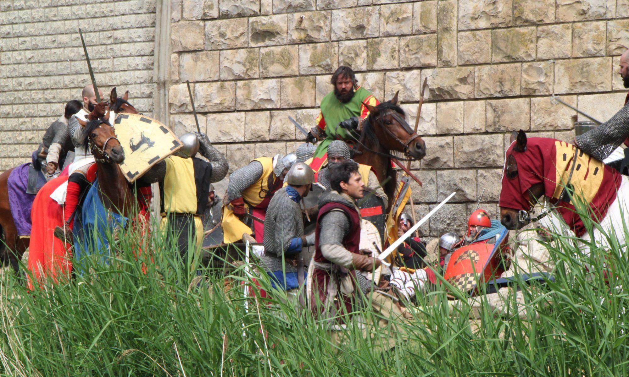 batallas-de-caballeros-en-el-homenaje-a-guillem-de-mont-rodón recreación de la época medieval