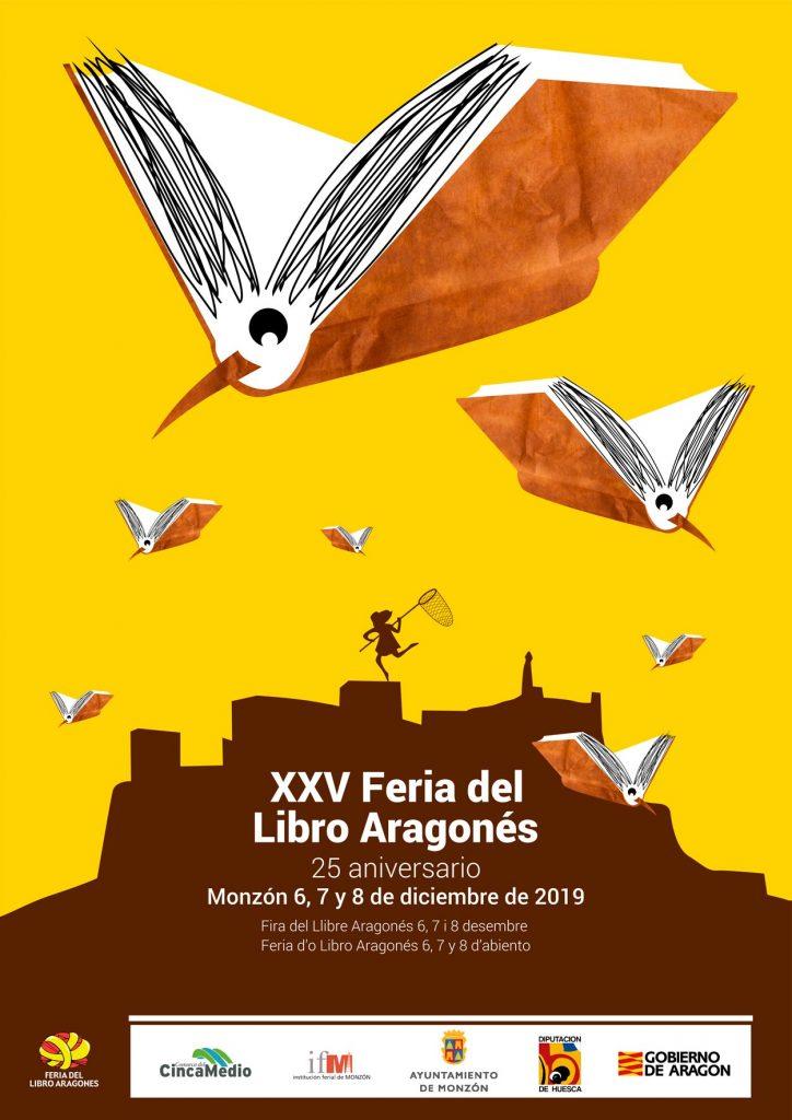 Cartel de la XXV Feria del Libro Aragonés en Monzón