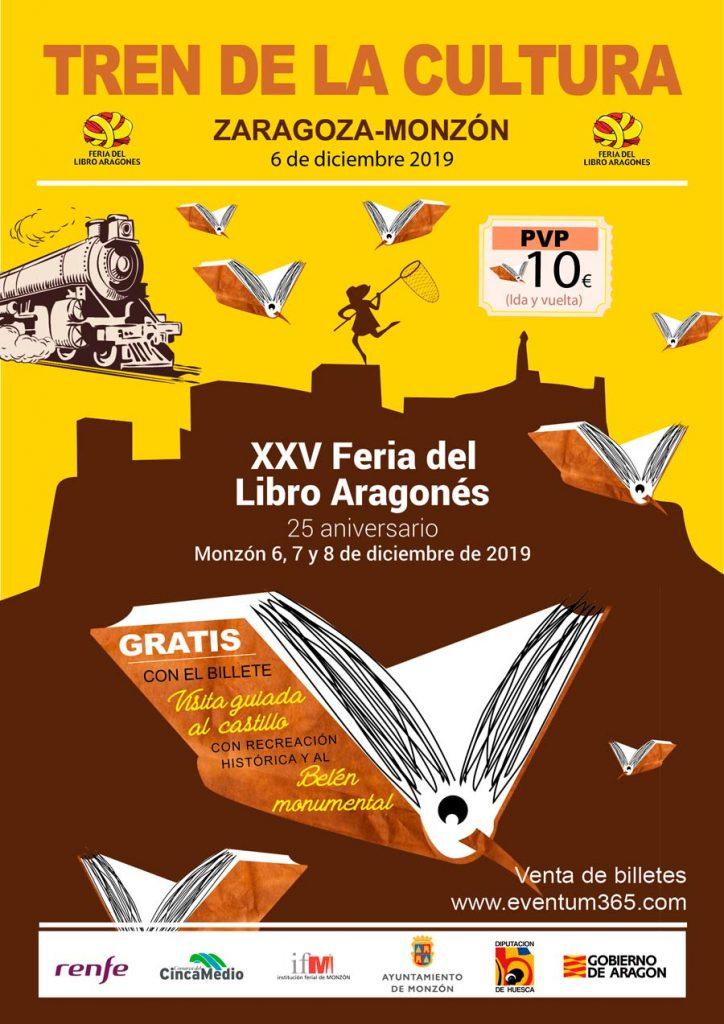 Tren de la cultura de Zaragoza a Monsón para visitar la XXV Edición de la Feria del Libro Aragonés