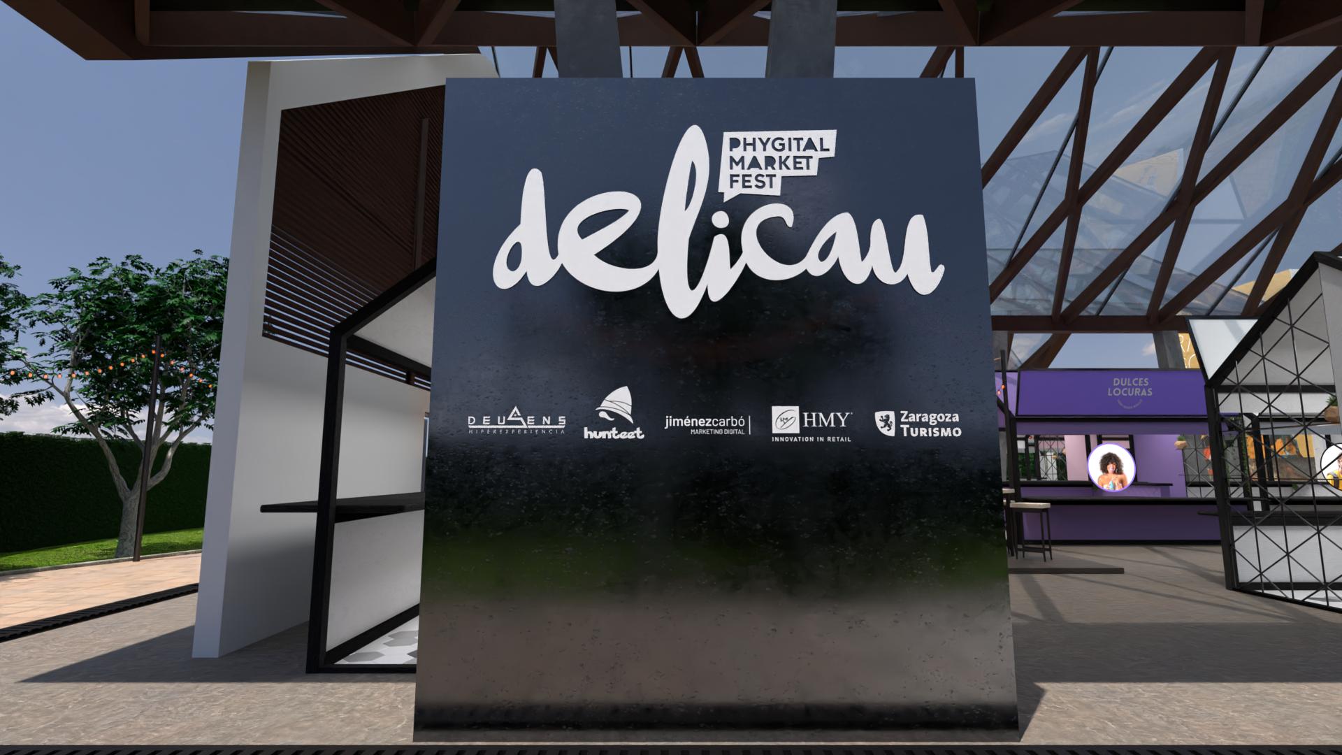 Fuente Delicau Fest 1. Cartel de bienvenida en Delicau Fest