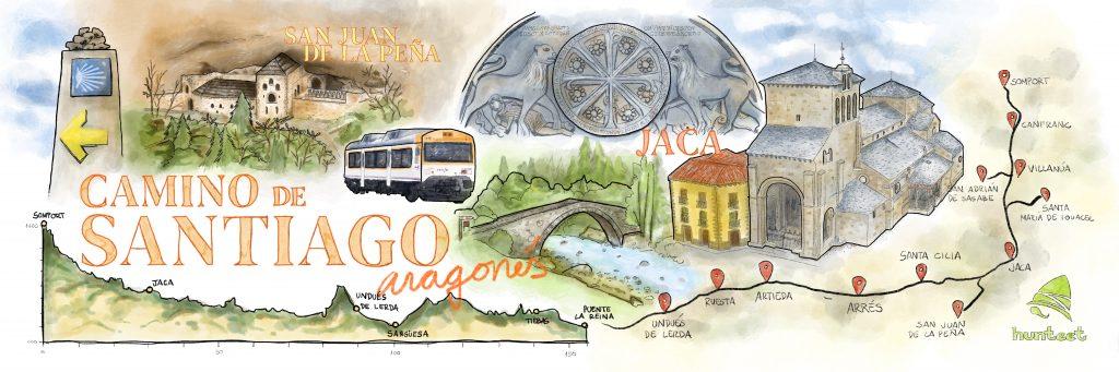 Camino de Santiago Francés a su paso por la Comunidad Autónoma de Aragón - By Hunteet